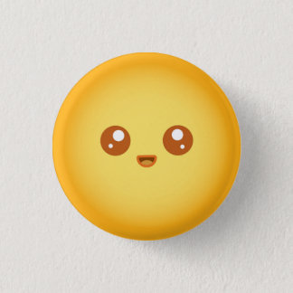 Cute Kawaii Sun Character Pinback Button