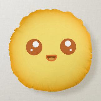 Cute Kawaii Sun Character Round Pillow