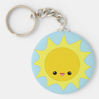 Cute kawaii sunshine keychain
