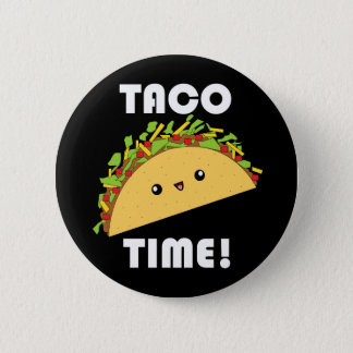 Cute kawaii Taco Time! button