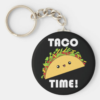 Cute kawaii Taco Time! keychain