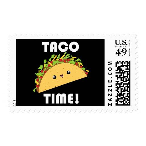 Cute kawaii Taco Time! Stamps Briefmarke