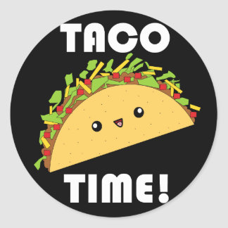 Cute kawaii Taco Time! stickers