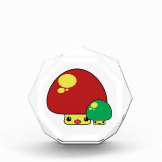 cute kawaii toadstool mushrooms red green awards