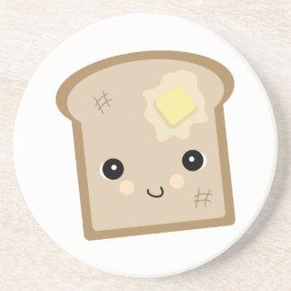 cute kawaii toast coaster