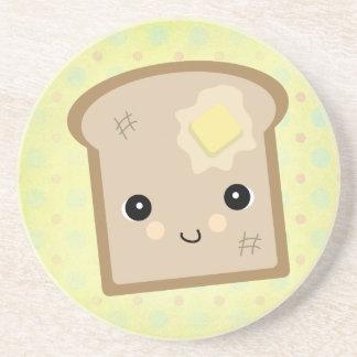 cute kawaii toast drink coaster