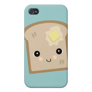 cute kawaii toast iPhone 4/4S cases