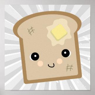 cute kawaii toast posters