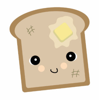 cute kawaii toast statuette