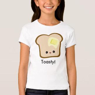Cute Kawaii Toasty! Toast and Butter girls t-shirt