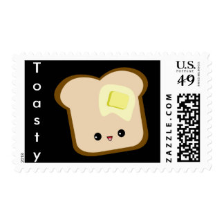 Cute kawaii Toasty! toast and butter stamps