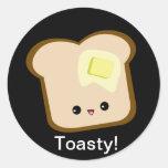 Cute kawaii toasty toast and butter sticker
