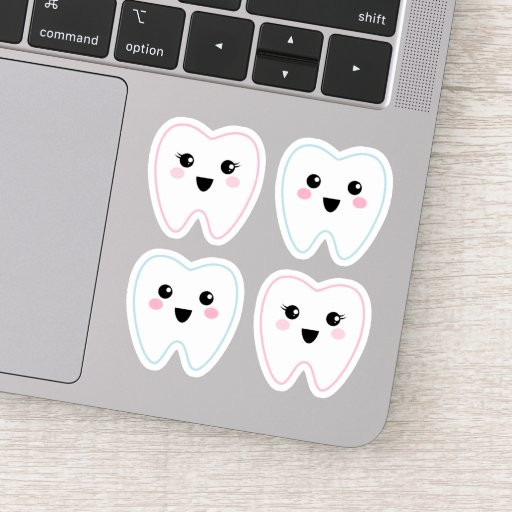 Cute kawaii tooth sticker