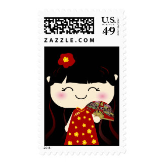 Cute Kawaii Traditional Chinese Girl Squeable Stamp