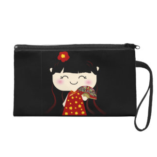 Cute Kawaii Traditional Chinese Girl Squeable Wristlet Clutch