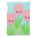 Cute kawaii tulip iPad case