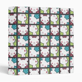 Cute Kawaii Vampire Bunny Rabbit Pattern Binder