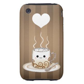 Cute kawaii warm cocoa drink iPhone 3 tough cover