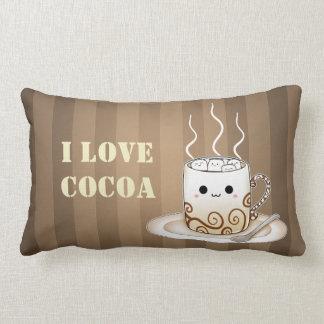 Cute kawaii warm cocoa drink pillows