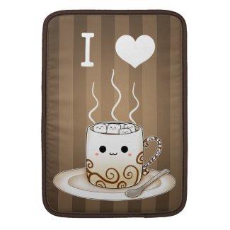 Cute kawaii warm cocoa drink with name