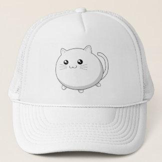 Cute kawaii white kitty cat trucker hat