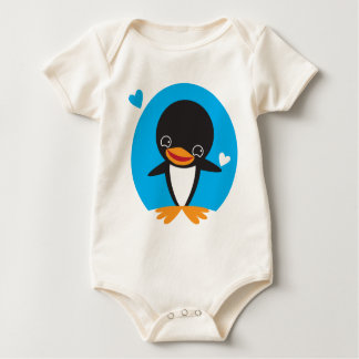 Cute Kawaii winter Penguin Baby Bodysuit