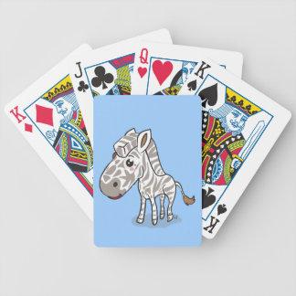 Cute Kawaii Zebra playing cards