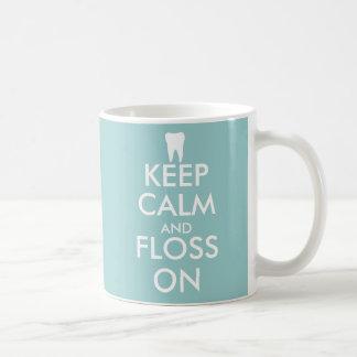 Cute Keep Calm and floss on Mug for dentist office