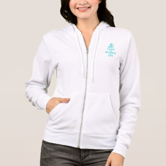 Cute Keep calm and sparkle on hoodie for women
