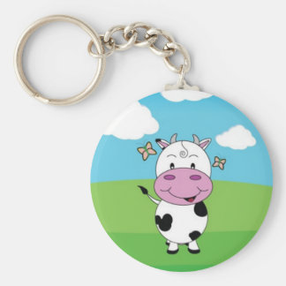 Cute Key Chain / Happy Baby Cow