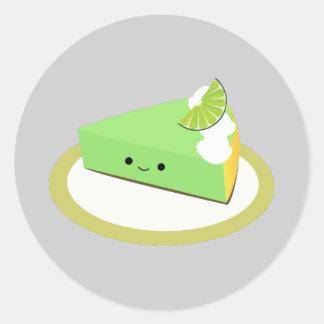 Cute Key Lime Pie Classic Round Sticker