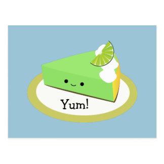 Cute Key Lime Pie Postcard
