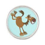 Cute Kicking Cartoon Horse Lapel Pin