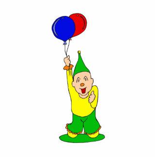 Cute kid clown with balloons cutout