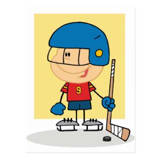 Cute Kid Hockey Player Postcard