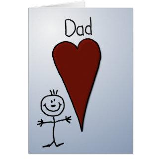 Cute Kids Art Stick Figure Father's Day Card
