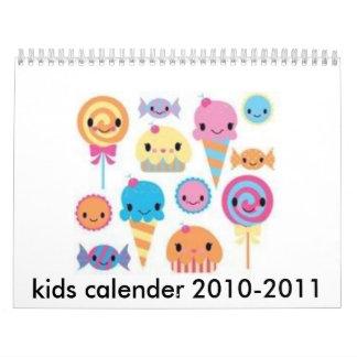 cute, kids calender 2010-2011 calendar