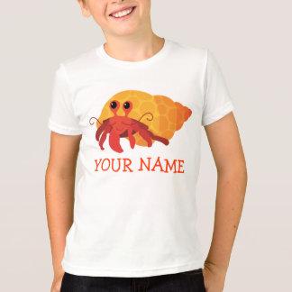 Cute Kids Cartoon Hermit Crab Tee
