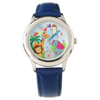 Cute Kids Cartoon Jungle Animals Fun Picture Watches