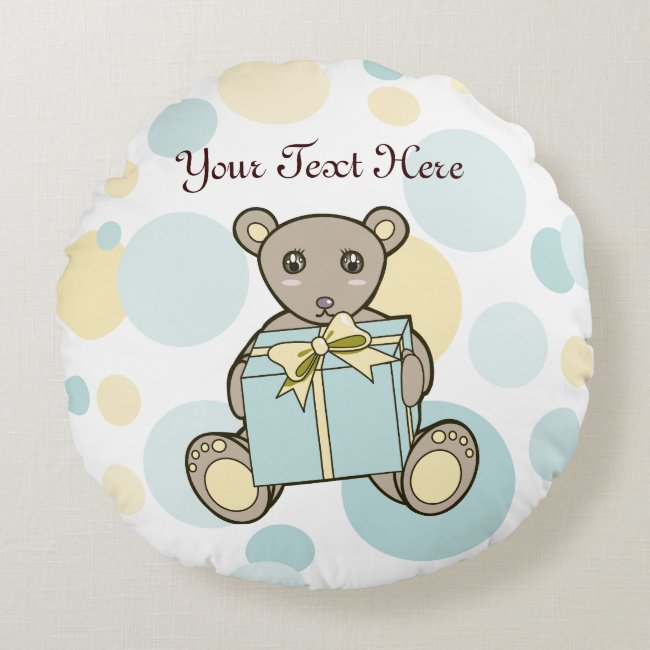 Cute Kids Cartoon Teddy Bear Personalized Pastel