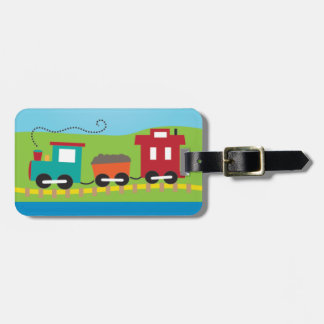 Cute Kid's Choo Choo Train Bag Tag