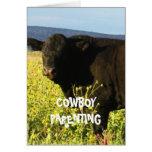 Cute Kids Chores Responsibility - Cowboy Parenting Card