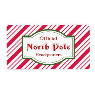 Cute Kids Christmas North Pole Gift Labels