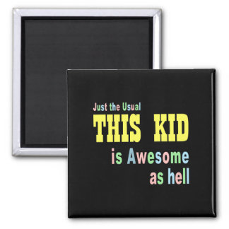 Cute kids clothes 2 inch square magnet