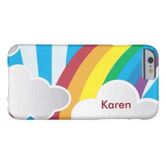 Cute Kids Cloud & Rainbow Pattern Barely There iPhone 6 Case