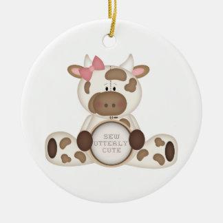 Cute Kids Cow Gift Christmas Tree Ornament