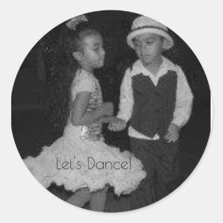Cute kids Dancing- Classic Round Sticker