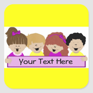 Cute Kids Daycare Stickers