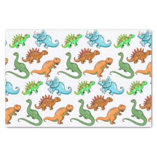Cute Kids Dinosaurs Illustrations Tissue Paper