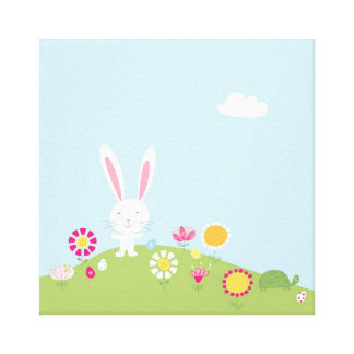 Cute Kids Easter Bunny Canvas